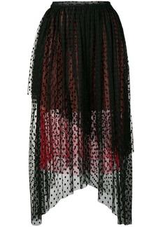 Christopher Kane dot tulle gathered skirt