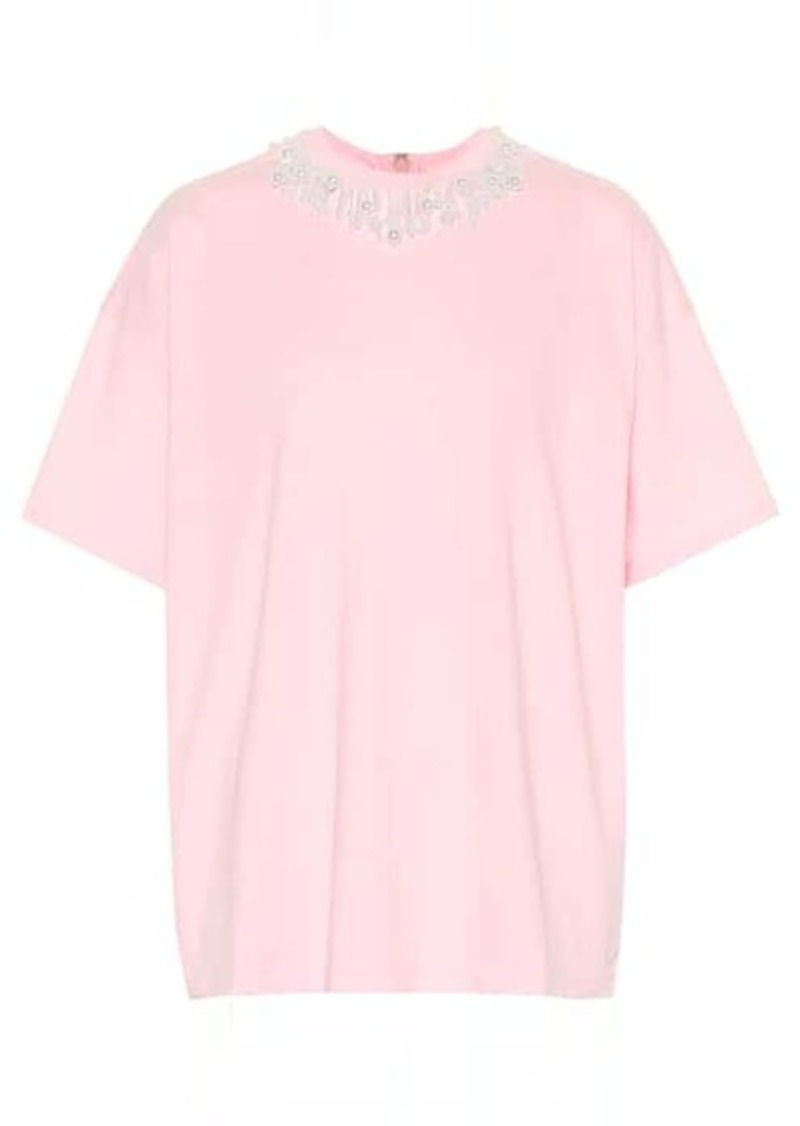 Christopher Kane Embellished cotton-jersey T-shirt
