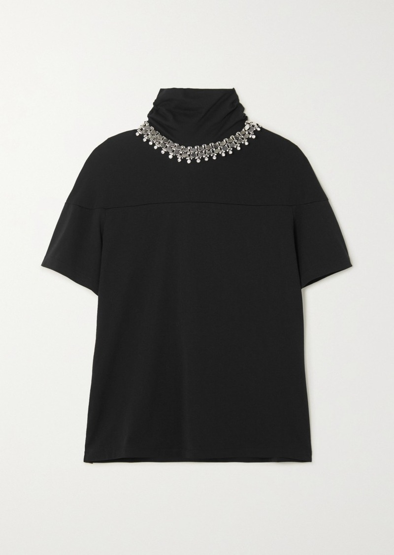 Christopher Kane Embellished Cotton-jersey T-shirt
