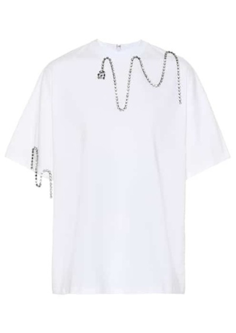 Christopher Kane Embellished cotton T-shirt