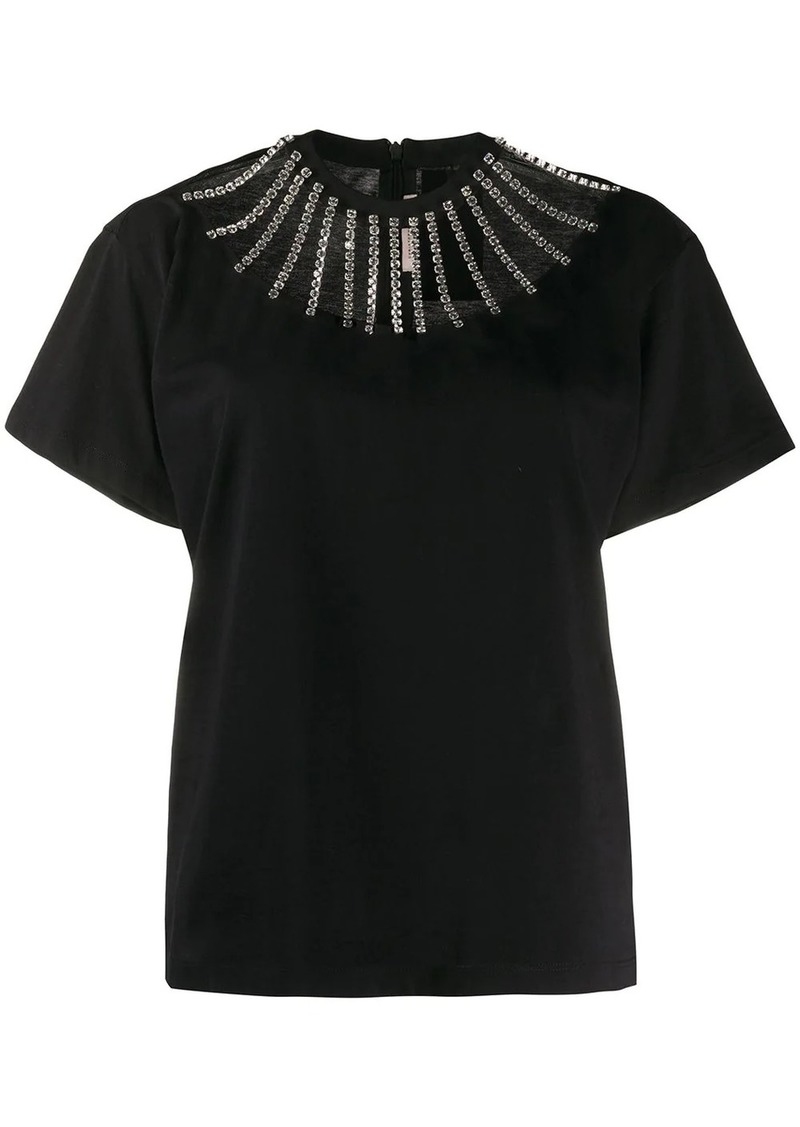 Christopher Kane embellished cut out T-shirt