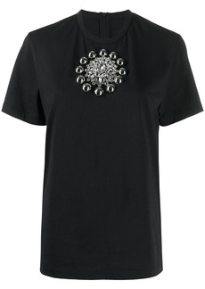 Christopher Kane embroidered cotton T-shirt