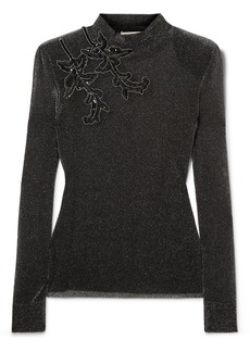 Christopher Kane Embroidered Lurex Top