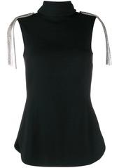 Christopher Kane epaulet detail sleeveless blouse