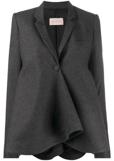 Christopher Kane flared draped blazer