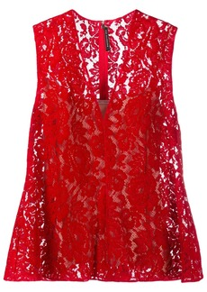 Christopher Kane flock lace bell top