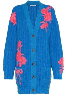 Christopher Kane floral embroidered cashmere cardigan