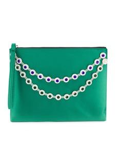 Christopher Kane flower crystal chain clutch bag