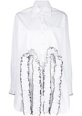 Christopher Kane frill cut out shirt
