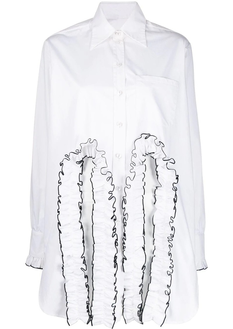 Christopher Kane frill cut out shirt