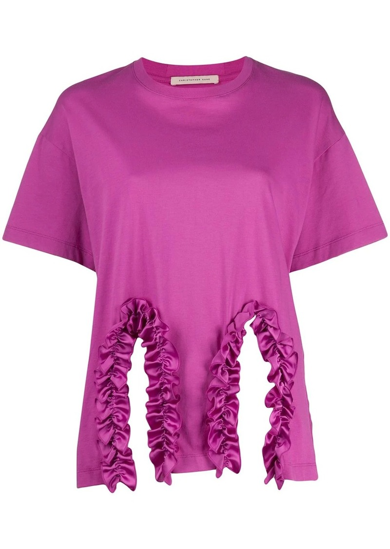 Christopher Kane frill trim T-shirt