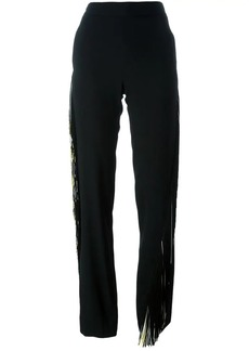 Christopher Kane fringed straight trousers