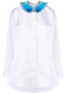 Christopher Kane gel collar cotton shirt