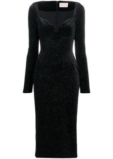Christopher Kane glitter velvet sweetheart dress