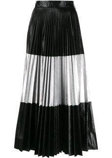 Christopher Kane laminated pleated skirt