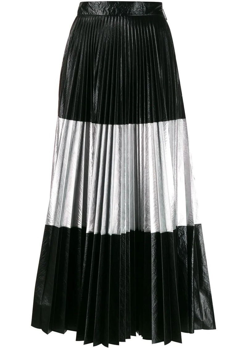 Christopher Kane laminated pleated skirt