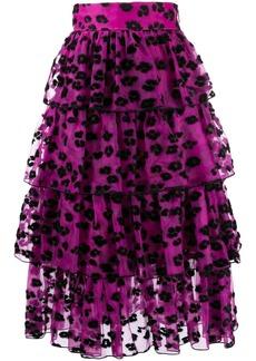 Christopher Kane leopard spot skirt