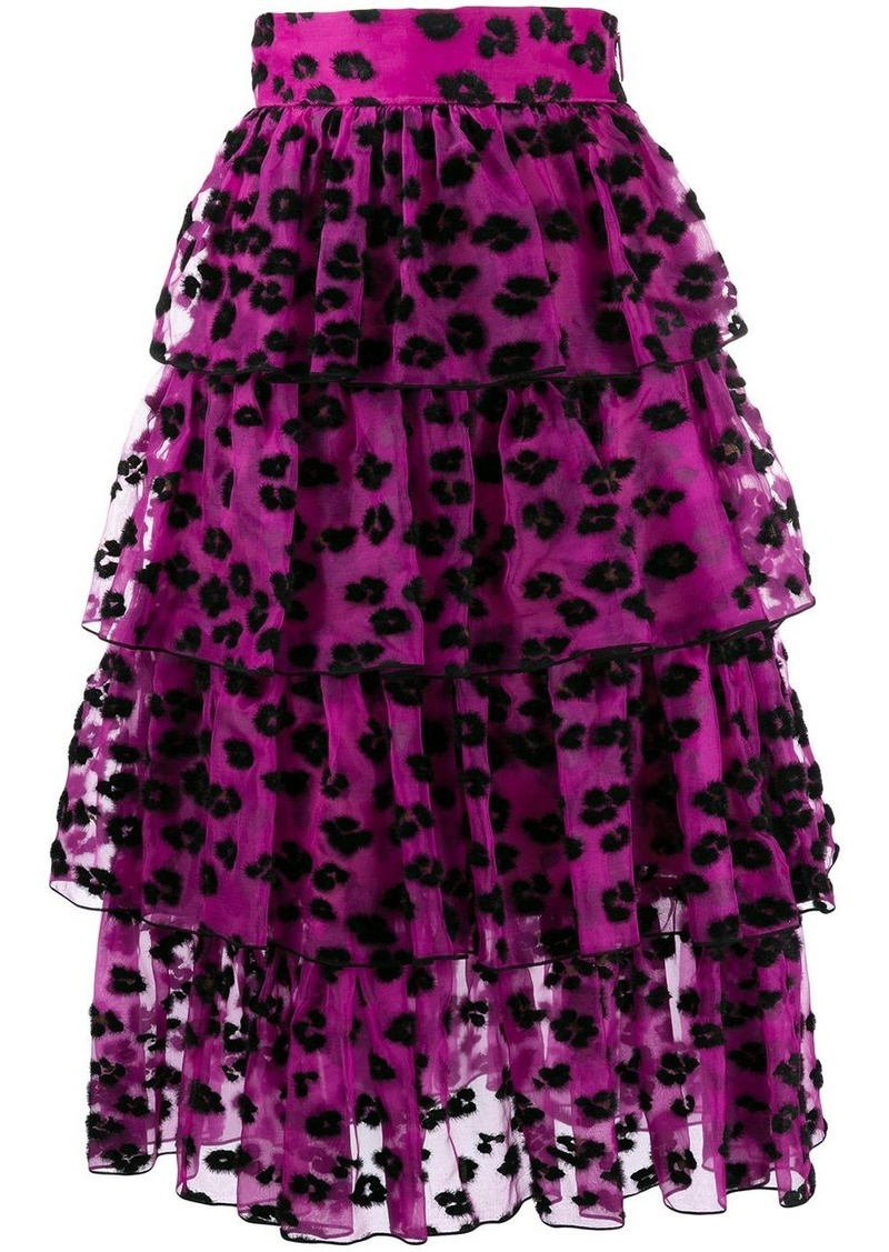 Christopher Kane leopard spot skirt
