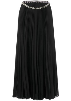 Christopher Kane long crystal-embellished pleated skirt