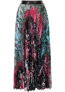 Christopher Kane marbled paint splatter skirt