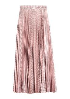 Christopher Kane Metallic Pleated Gingham Skirt