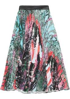 Christopher Kane Mindscape long pleated skirt
