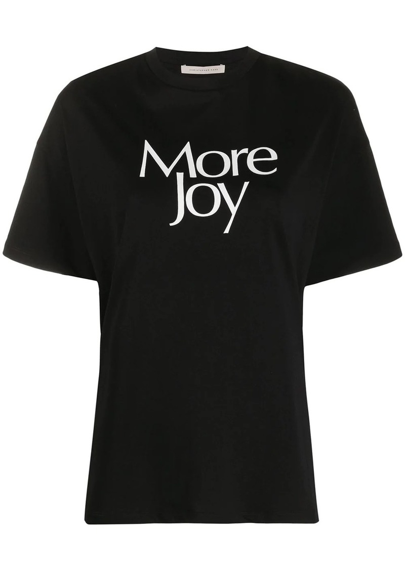 Christopher Kane More Joy print T-shirt