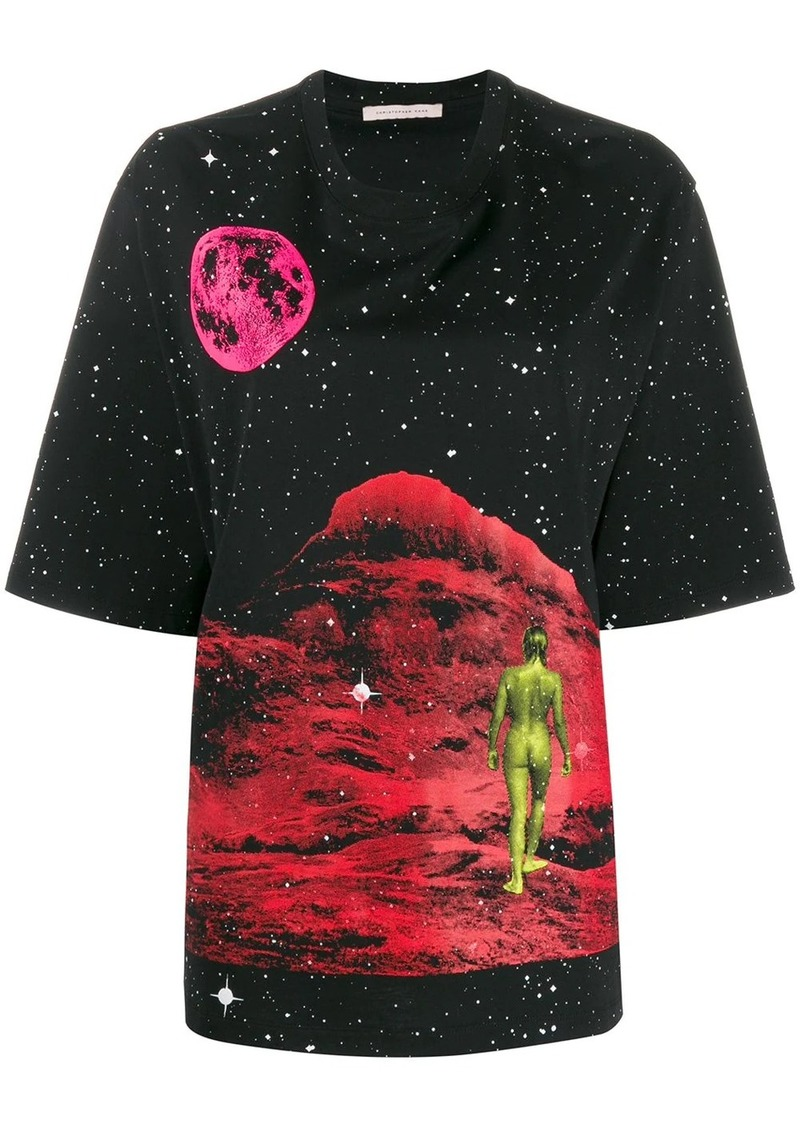 Christopher Kane Mountain Lady print T-shirt