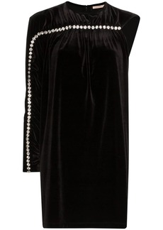 Christopher Kane one sleeve diamanté detail mini dress