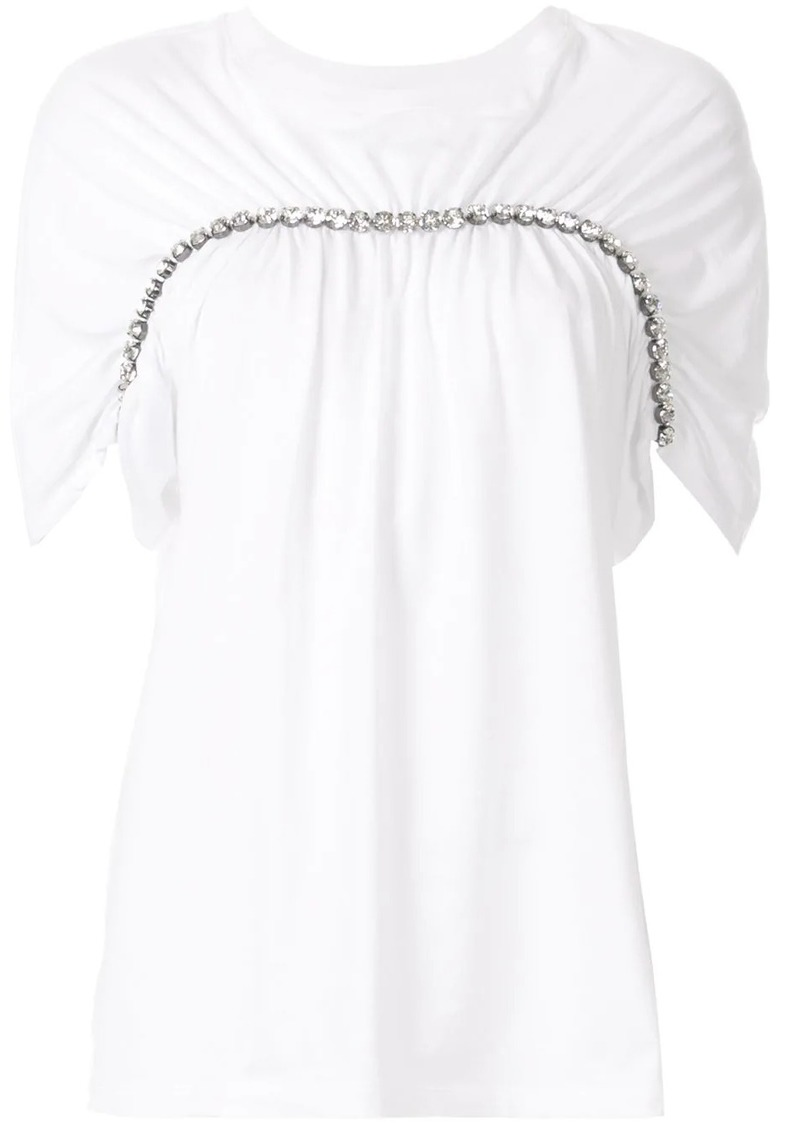 Christopher Kane oversized chain trim T-shirt