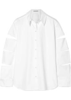 Christopher Kane Oversized Cutout Cotton-poplin Shirt