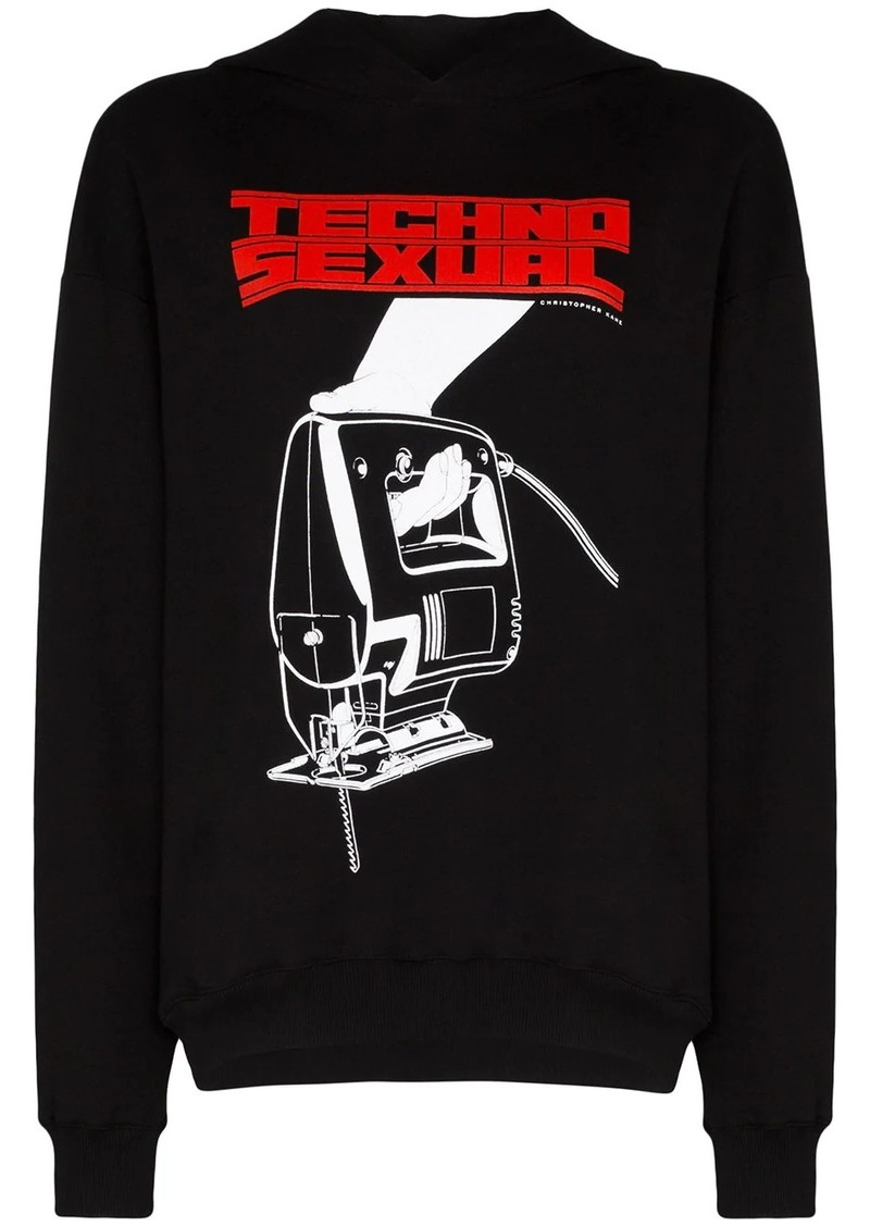 Christopher Kane oversized graphic-print hoodie