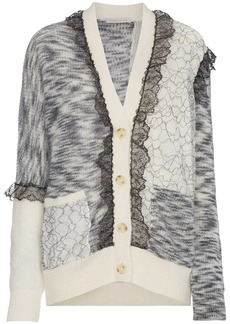 Christopher Kane patchwork lace trim cardigan