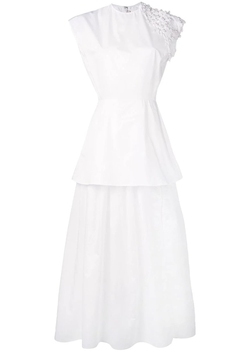 Christopher Kane pearl cotton poplin dress