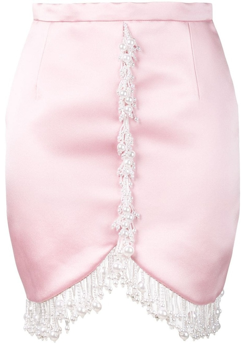 Christopher Kane pearl satin mini skirt