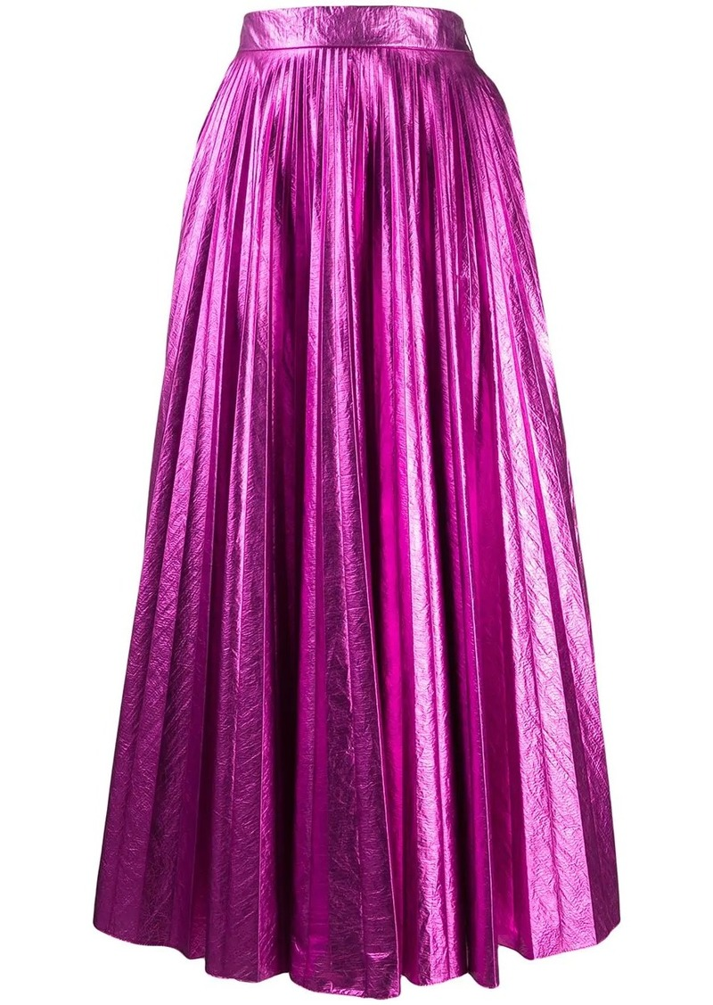 Christopher Kane pleated high-rise skirt