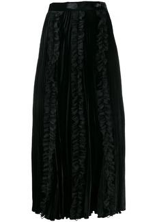 Christopher Kane pleated velvet frill skirt