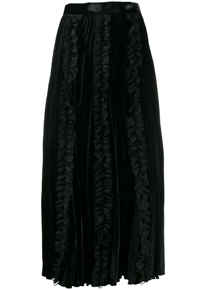 Christopher Kane pleated velvet frill skirt