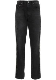 Christopher Kane rhinestone embellished high-waisted jeans
