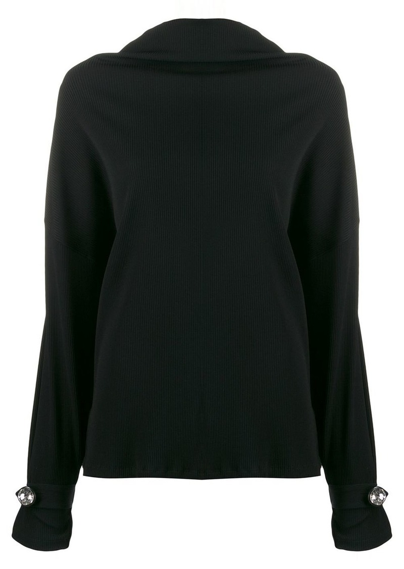 Christopher Kane ribbed jersey diamond top