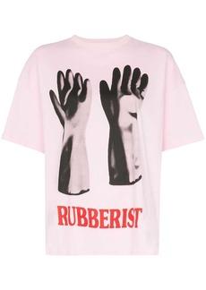 Christopher Kane Rubberised glove print T-shirt