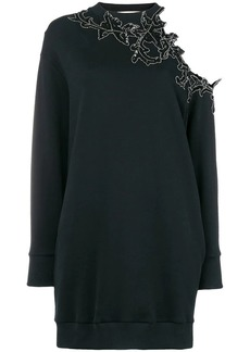 Christopher Kane sequin flower hoodie dress