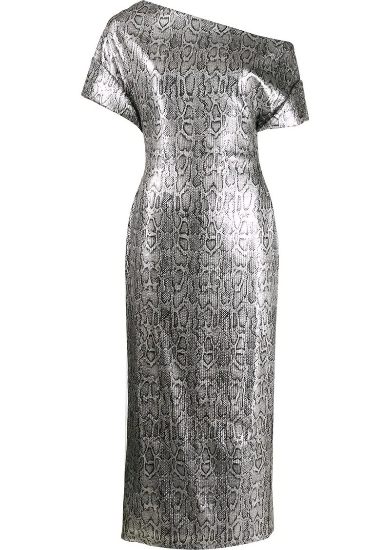 Christopher Kane sequin snake print dress