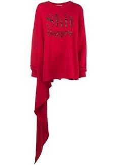 Christopher Kane 'Shit Happens' embroidered sweatshirt