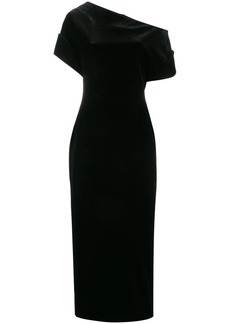 Christopher Kane stretch velvet one-shoulder dress
