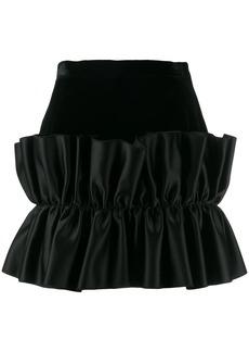 Christopher Kane velvet frill mini skirt