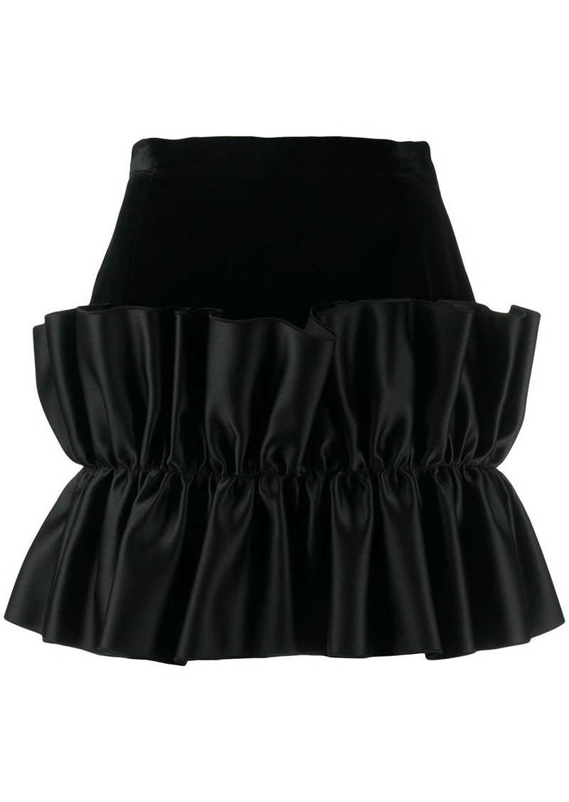 Christopher Kane velvet frill mini skirt