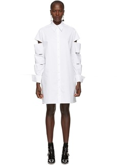 Christopher Kane White Slash Shirt Dress