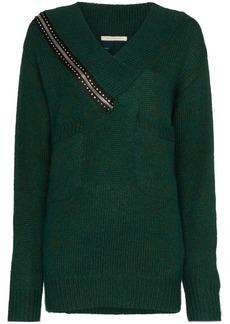 Christopher Kane zip detail wool jumper