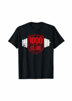 Chrome 1000lb Club - Weightlifting T-Shirt